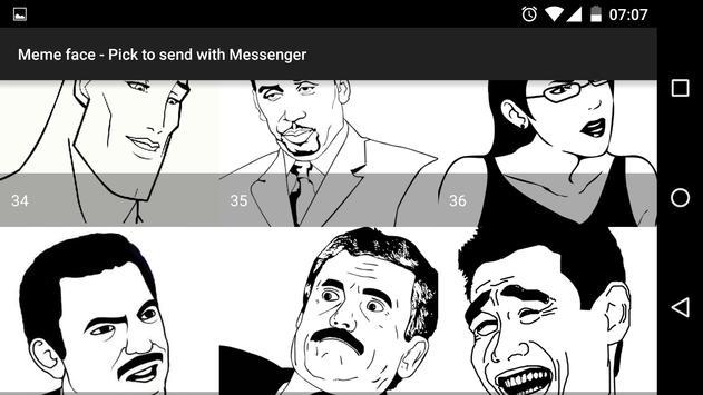 Meme face for Messenger apk screenshot