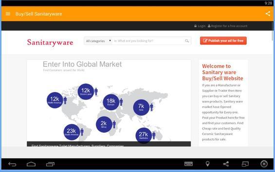 Buy/Sell Sanitaryware apk screenshot