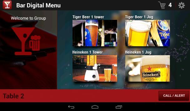Digital menu for Bars apk screenshot