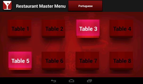 Restaurant Master Menu apk screenshot