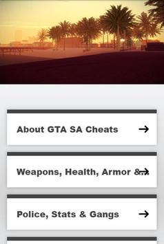 Cheats GTA SA poster