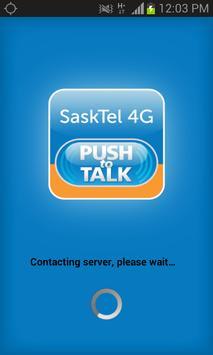 SaskTel 4G Push-to-Talk poster