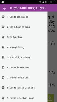 Truyện cười Trạng Quỳnh apk screenshot