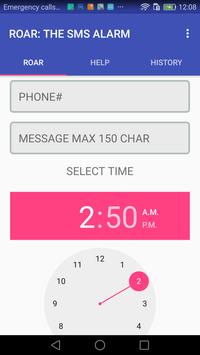 ROAR: THE SMS ALARM apk screenshot
