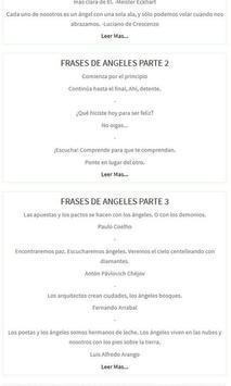 Frases y Mensajes de Ángeles apk screenshot