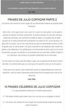 Frases de Julio Cortázar apk screenshot