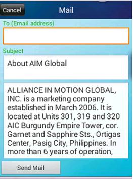 AIM Global Presentation App apk screenshot