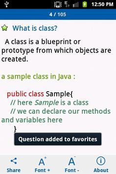 Java Interview Questions apk screenshot