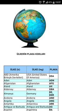 Ülkelerin Plaka Kodları poster