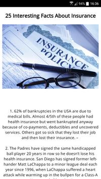 25 Facts About Insurance poster