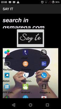 SAY IT apk screenshot