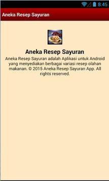 Aneka Resep Sayuran apk screenshot