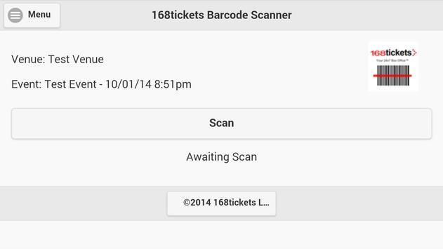 168tickets Barcode Scanner apk screenshot