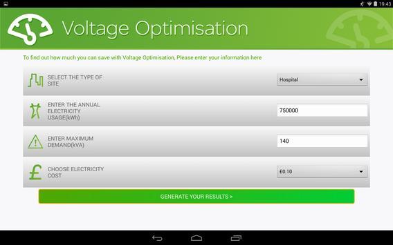 Voltage Optimise Calculator apk screenshot