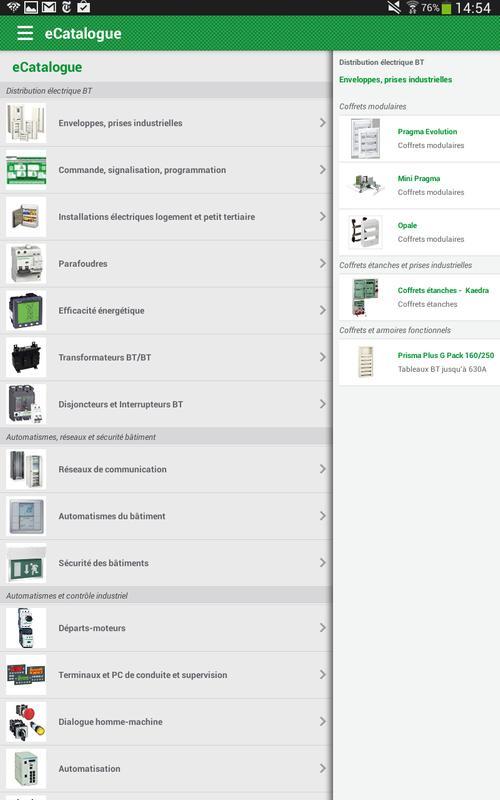 e catalogue schneider electric apk download free. Black Bedroom Furniture Sets. Home Design Ideas