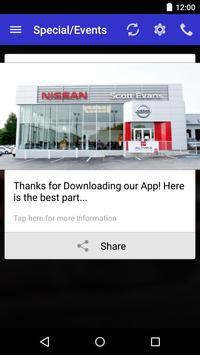 Scott Evans Nissan DealerApp apk screenshot