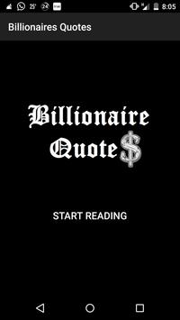 Billionaires Quotes poster