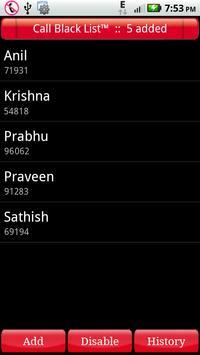 Call Black List apk screenshot