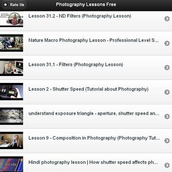 Photograpy Lesson Free apk screenshot