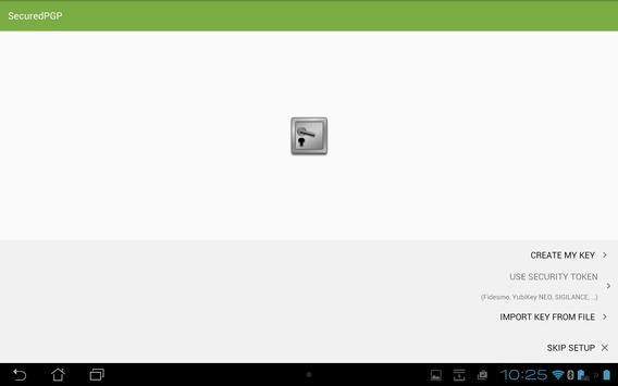 SecuredPGPOutEmail apk screenshot