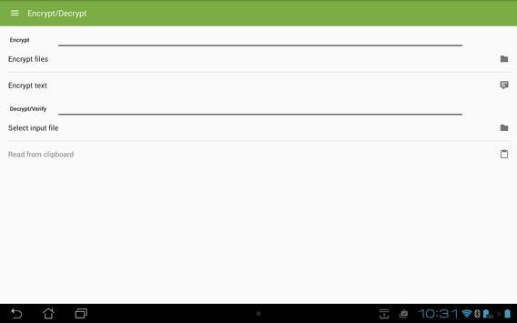 SecuredPGPLineMessages apk screenshot