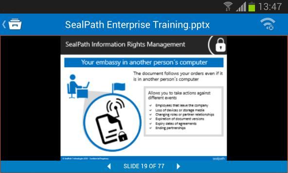 SealPath Document Viewer apk screenshot