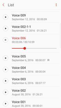 Samsung Voice Recorder apk screenshot