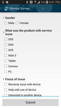 Samsung Mobile Survey apk screenshot
