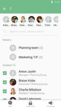 KNOX Message BETA Green skin apk screenshot