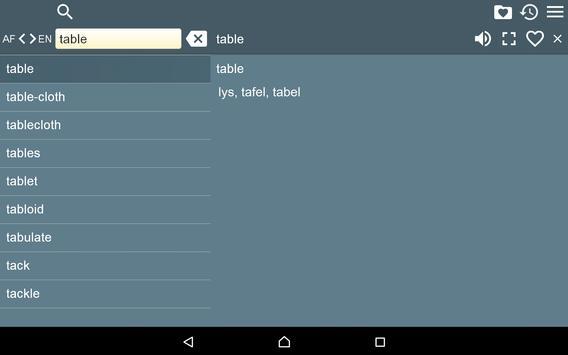 English Afrikaans Dictionary F apk screenshot