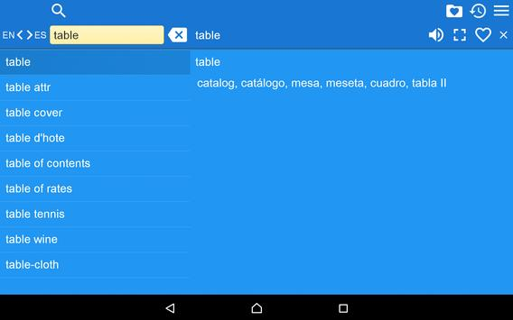 English Spanish Dictionary FII apk screenshot