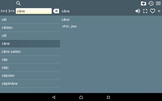 English Farsi Dictionary FreeR apk screenshot