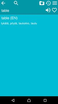 English Finnish Dictionary Fr apk screenshot