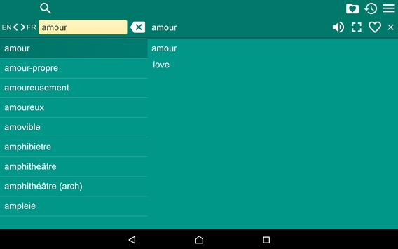 French English Dictionary apk screenshot