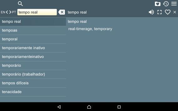Portuguese English Dictionary apk screenshot
