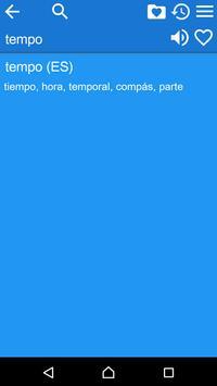 Spanish Italian Dictionary Fr apk screenshot