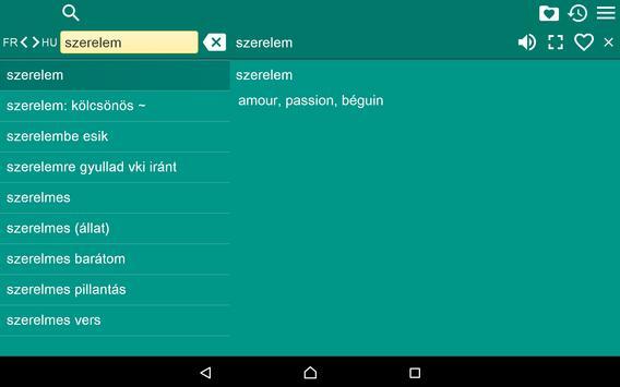 French Hungarian Dictionary Fr apk screenshot