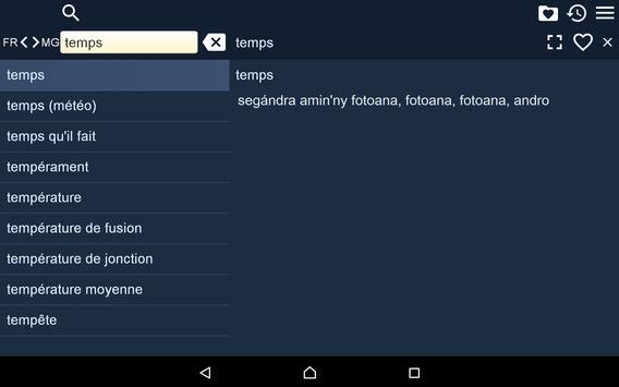 French Malagasy Dictionary Fr apk screenshot