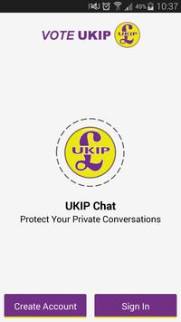 UKIP Secure Chat poster