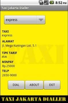 Taxi Dialler (Jakarta) apk screenshot