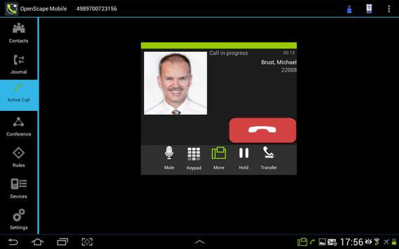 OpenScape Mobile apk screenshot