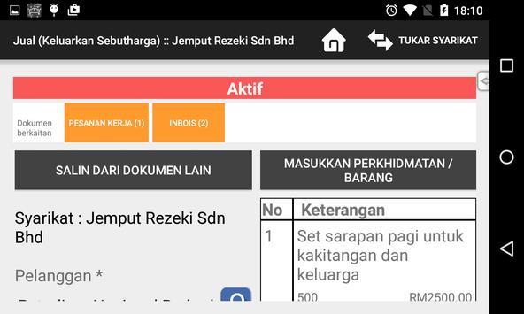 SenangNiaga 2015 apk screenshot