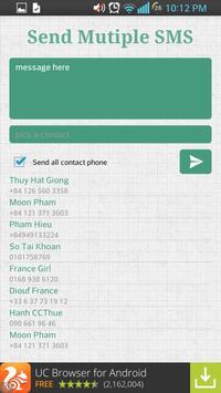 Send Multiple SMS apk screenshot