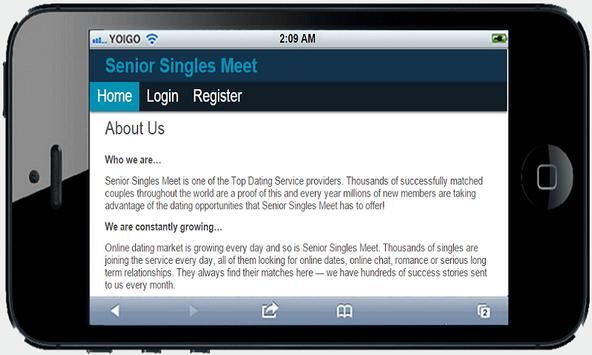 Senior singles apk screenshot