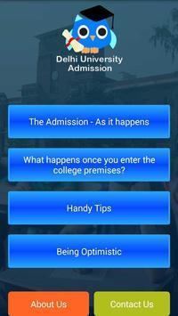 DU Admission poster