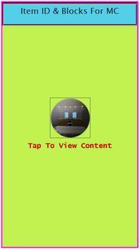 Item ID & Blocks For MC apk screenshot