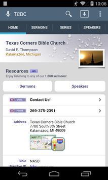 Texas Corners Bible Church poster