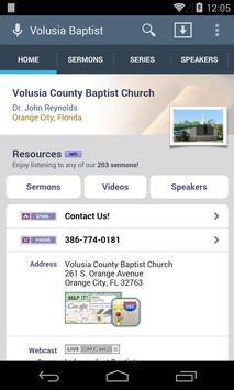 Volusia County Baptist Church poster