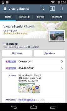 Victory Baptist Church poster