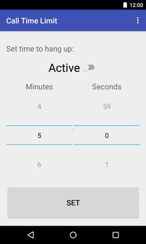 Call Time Limit apk screenshot